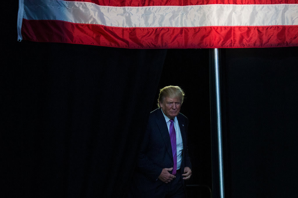 Donald J. Trump at a campaign event in Everett, Wash., on Tuesday.