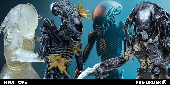 Hiya Toys 1:18 Alien & Predator Action Figures