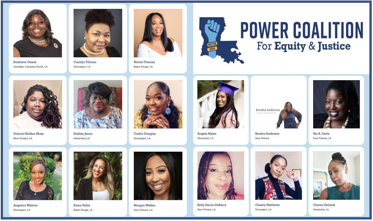 Power Coalition for Equity and Justice supports women community organizers in Louisiana.