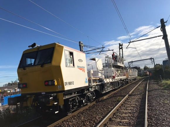 Gospel Oak to Barking wiring train - copyright Network Rail