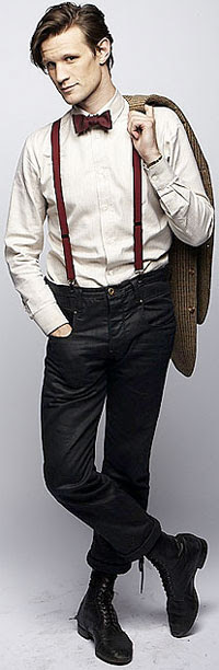 Image result for dr. who matt smith suspenders and bowtie