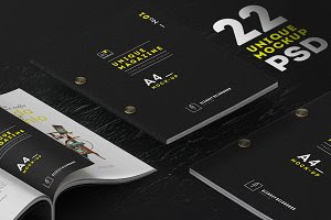 [22] UNIQUE MAGAZINES MOCKUPS