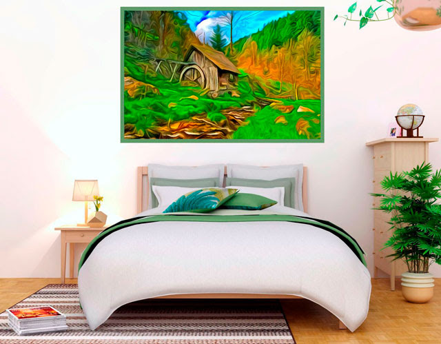 photo painting for home decoration