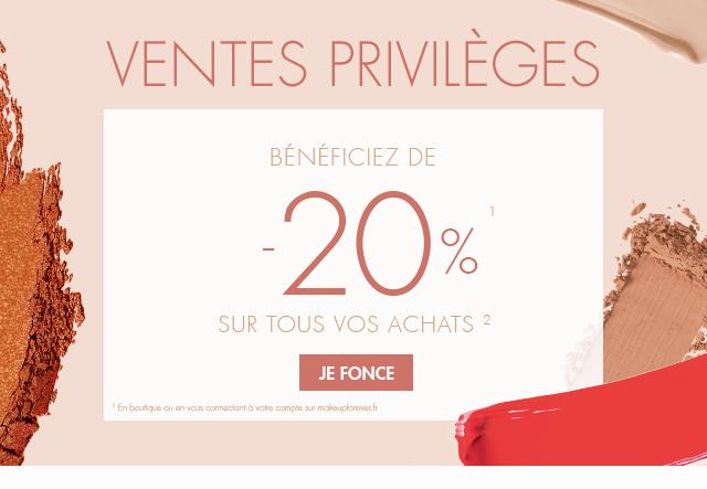 Ventes Privilèges : -20% sur tous vos achats