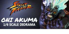 STREET FIGHTER 1/6 ONI AKUMA DIORAMA