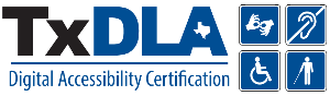 TxDLA Digital Accessibility Certification Logo