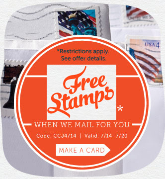 Create All the Cards You Want and Receive FREE Stamps When We Mail it for You at Cardstore! Use Code: CCJ4714, Valid through 7/20/14. Shop Now!