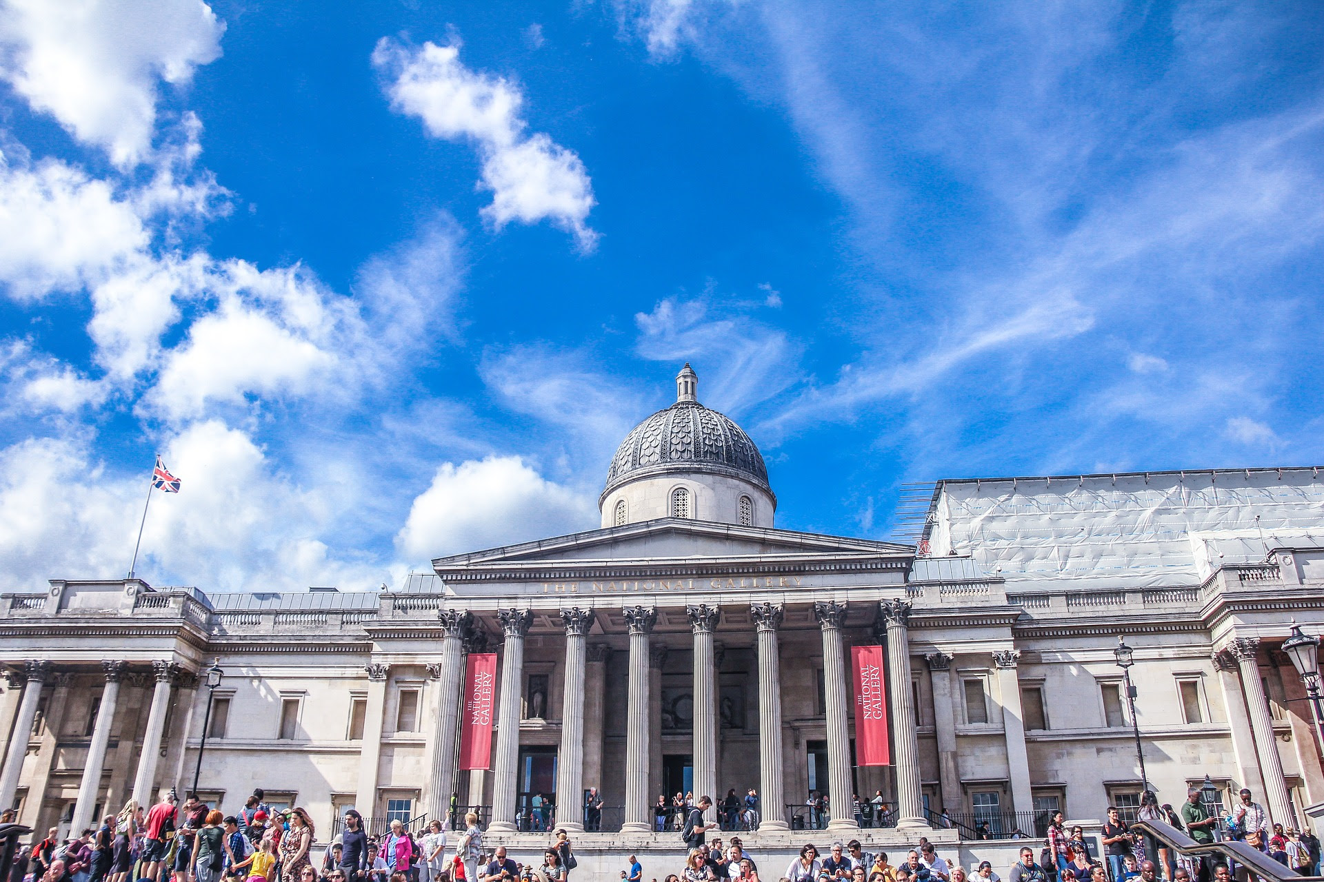 The National Gallery, popular tourist place in London