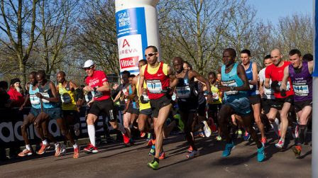 Runners in the Fitbit Semi de Paris