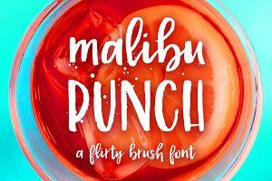 Malibu Punch, a textured brush font