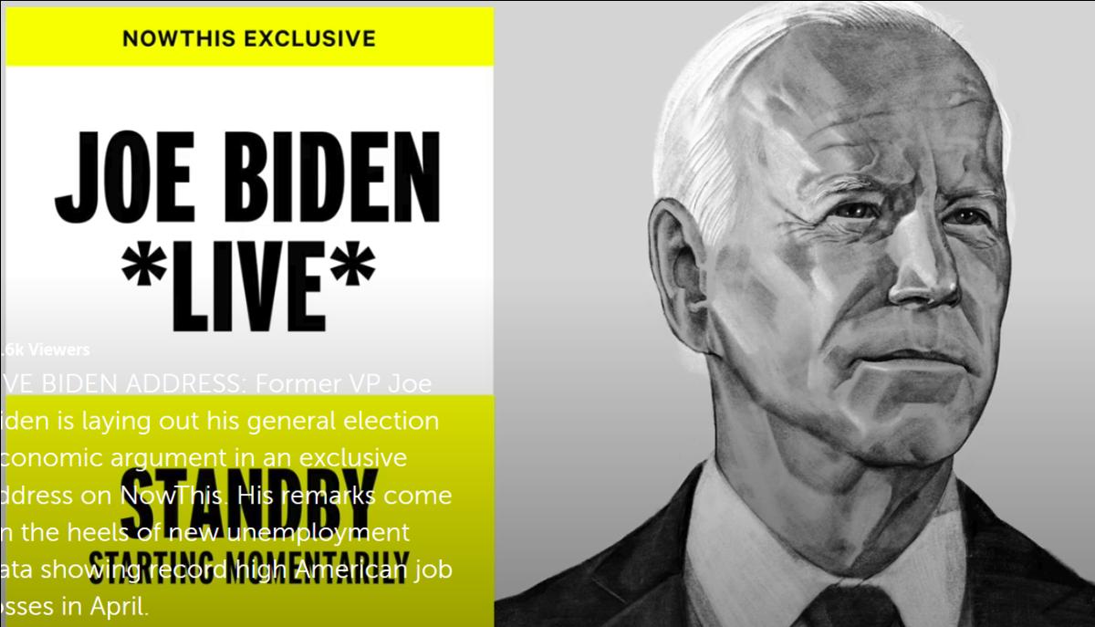 Joe Biden live poster