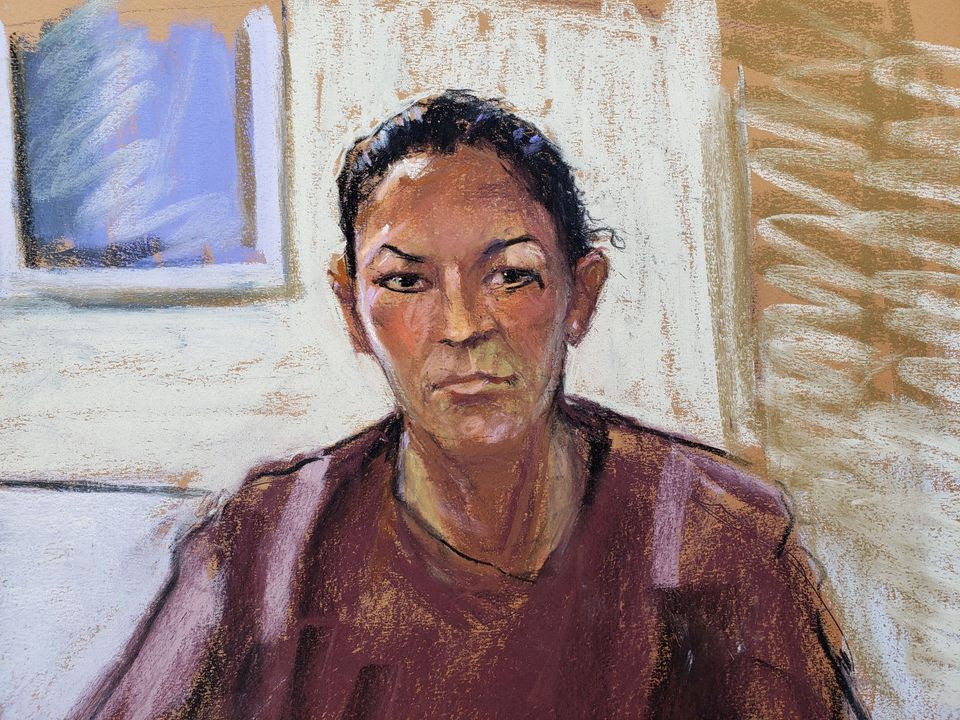 Ghislaine Maxwell in courtroom drawing
