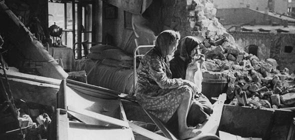 Mujeres en Leningrado durante el sitio.