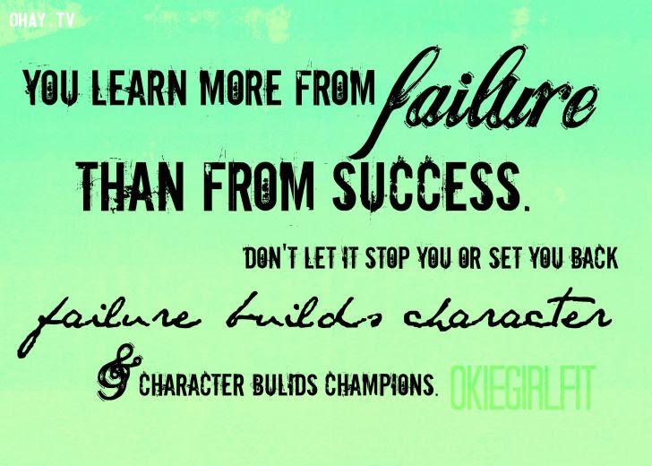 ảnh thành công,thất bại,bài học,bài học thành công