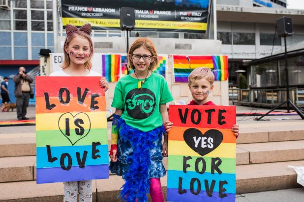 Image result for Canberra says YES! rally for Marriage Equality