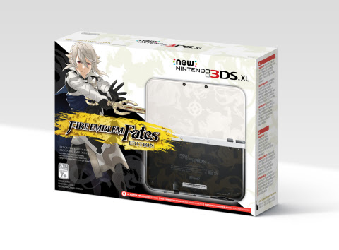 The Fire Emblem Fates Edition New Nintendo 3DS XL system (game sold separately) launches on Feb. 19  ...
