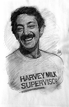 Harvey Milk Sketch - 4 - by Thomas Haller Buchanan