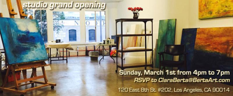 Artists Clara Berta invites you to her new studio