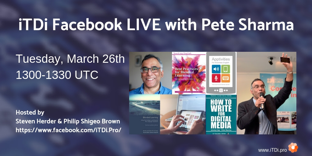 Facebook live with Pete Sharma