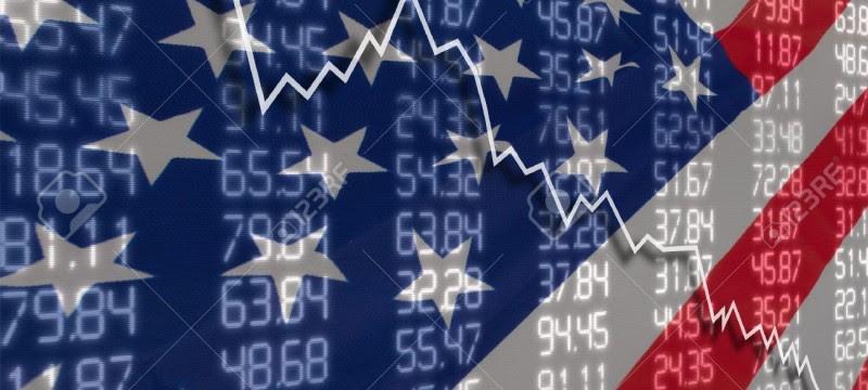 14931232-Crisi-in-USA-Autunno-Grafico-Azioni-per-gli-Stati-Uniti-d-America-Bandiera-Archivio-Fotografico