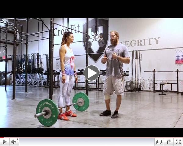 CrossFit Integrity Mishelle Lee - Best Power Clean form EVER