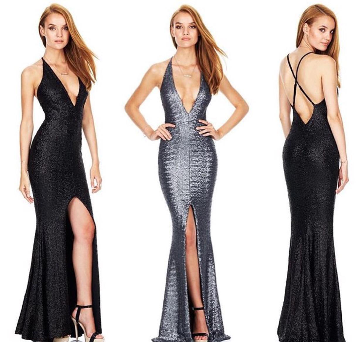 Black Plunge Gown