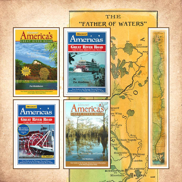 Discover! America's Great River Road 4 Volume gift set + Father of Water Map