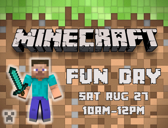 Minecraft Fun Day at Kaleidoscope Toys