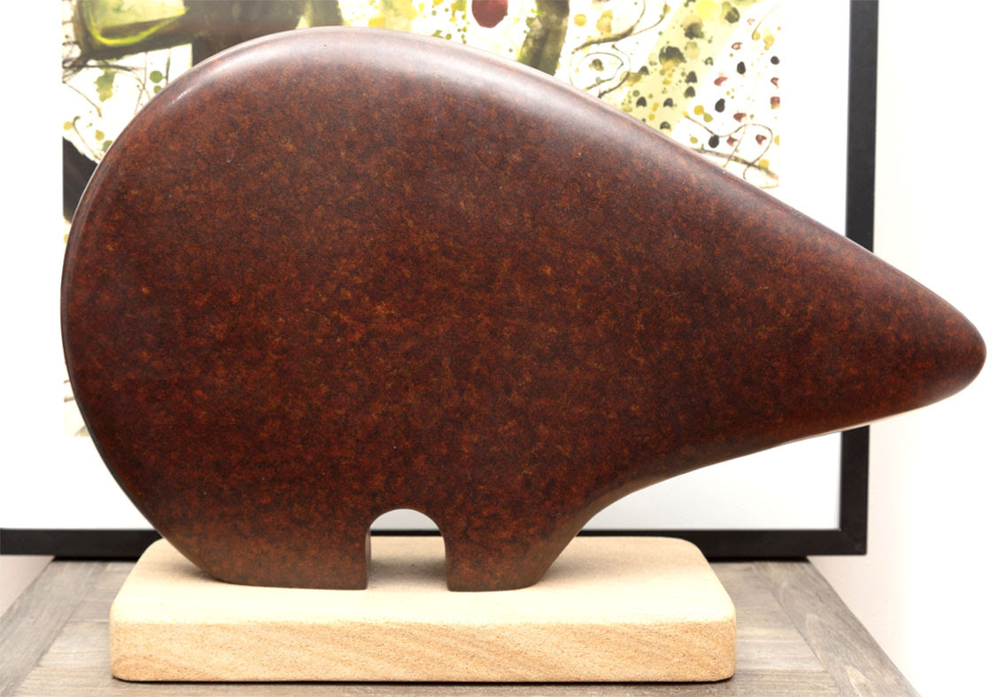 Lot 87. A patinated hollow bronze figure of a wombat