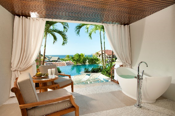 Sandals LaSource - Italian Swim up Bi-level 1 Br. Butler Suite wPatio Tranquility Soaking Tub