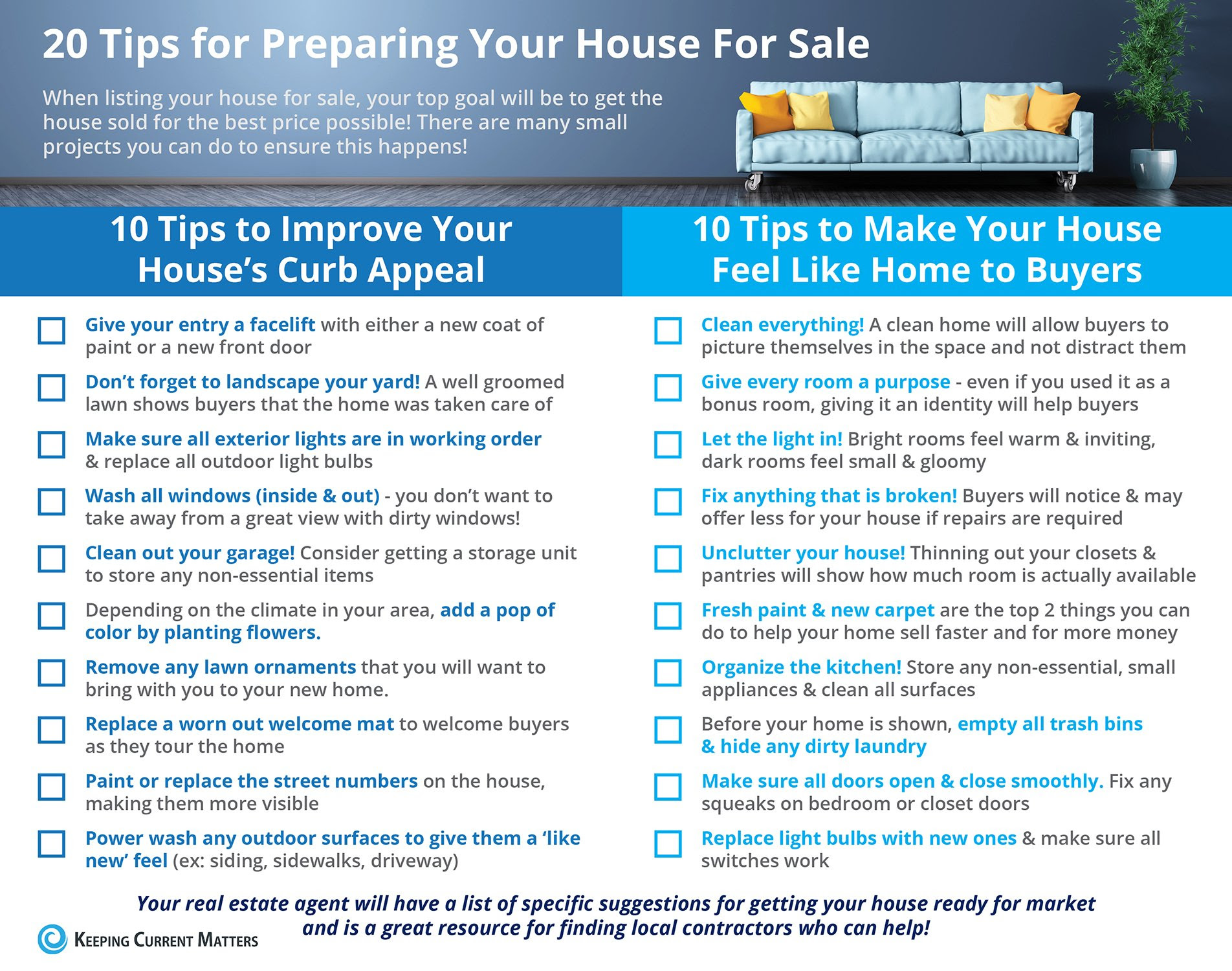 Tips for Preparing Your House for Sale This Spring [INFOGRAPHIC] | Keeping Current Matters