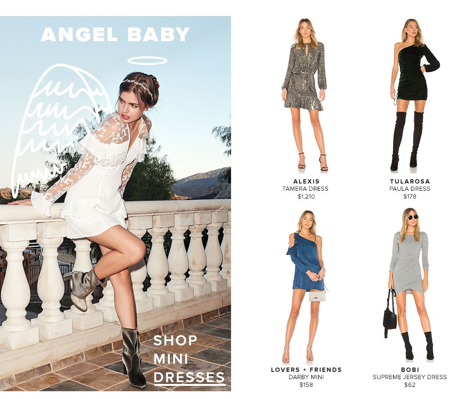 Angel Baby. Shop mini dresses.