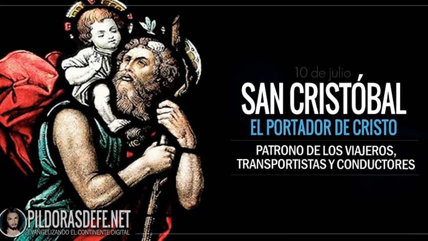 san cristobal el portador de cristo santo patrono de los viajeros