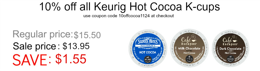 10 percent of Keurig K-cup hot cocoa