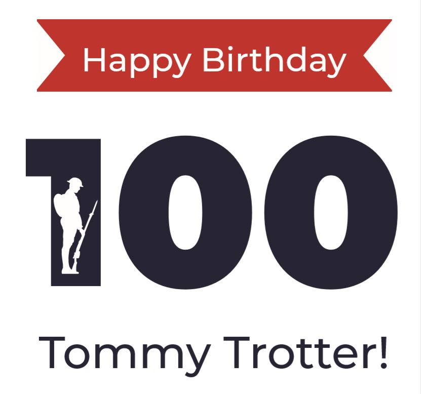 Tommy Trotter's 100th Birthday Card