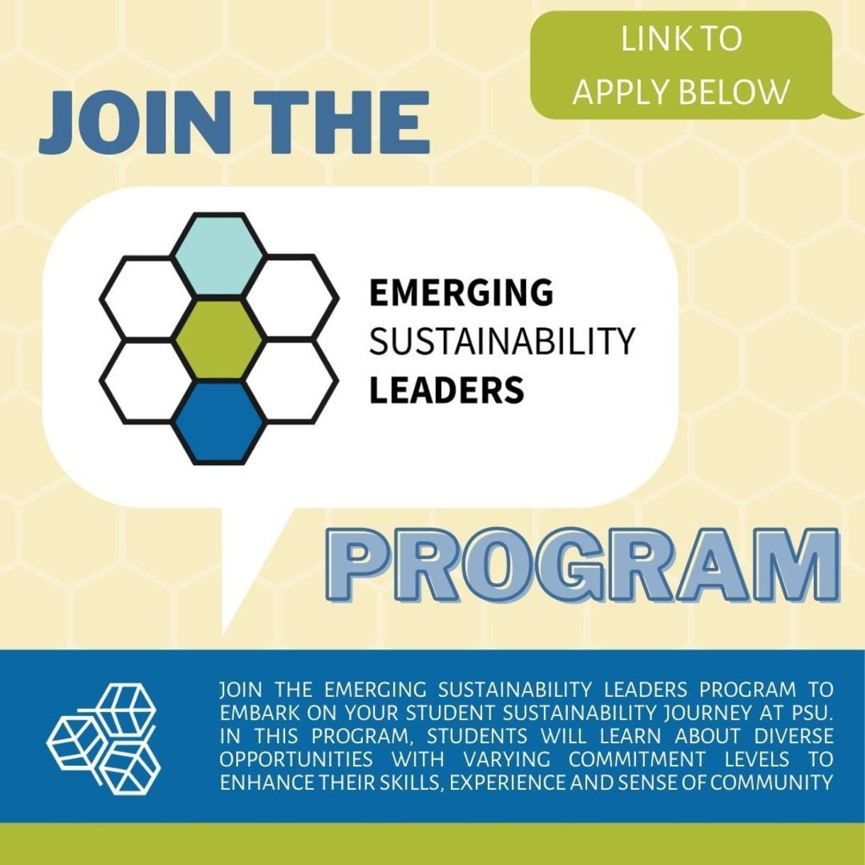 join the emerging sustainability leaders program