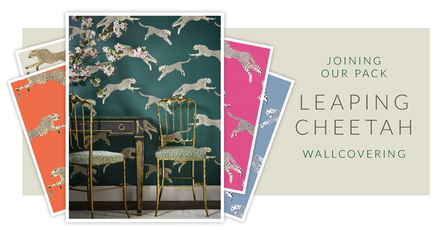 Joining Our Pack Leaping Cheetah Wallcovering