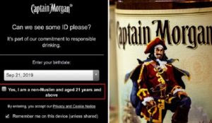 I'll Drink to That: Captain Morgan Website Asks Visitors to Affirm They're Non-Muslim