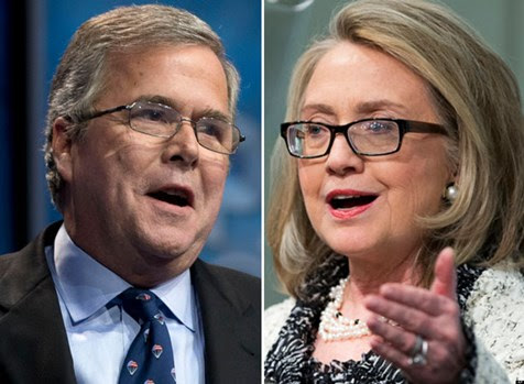 Amnesty supporters Jeb Bush and Hillary Clinton