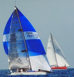 J/125 and J/145 sailing Santa Barbara to King Harbor race