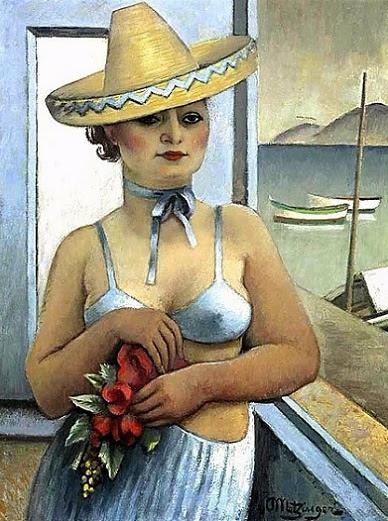 Suzanne Phocas con Sombrero, 1940 (388x521, 263Kb)