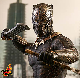 HOT TOYS BLACK PANTHER ERIK KILLMONGER 1/6TH SCALE FIGURE