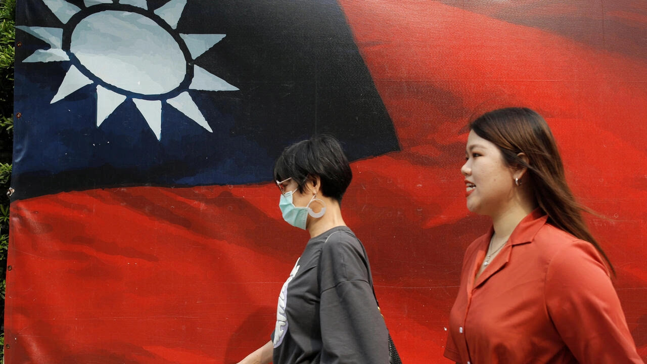 Cờ Đài Loan trên đường phố Đài Bắc. Ảnh chụp ngày 10/08/2020.