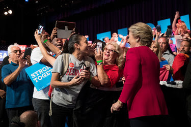Hillary Clinton campaigning in Coconut Creek, Fla., on Tuesday.