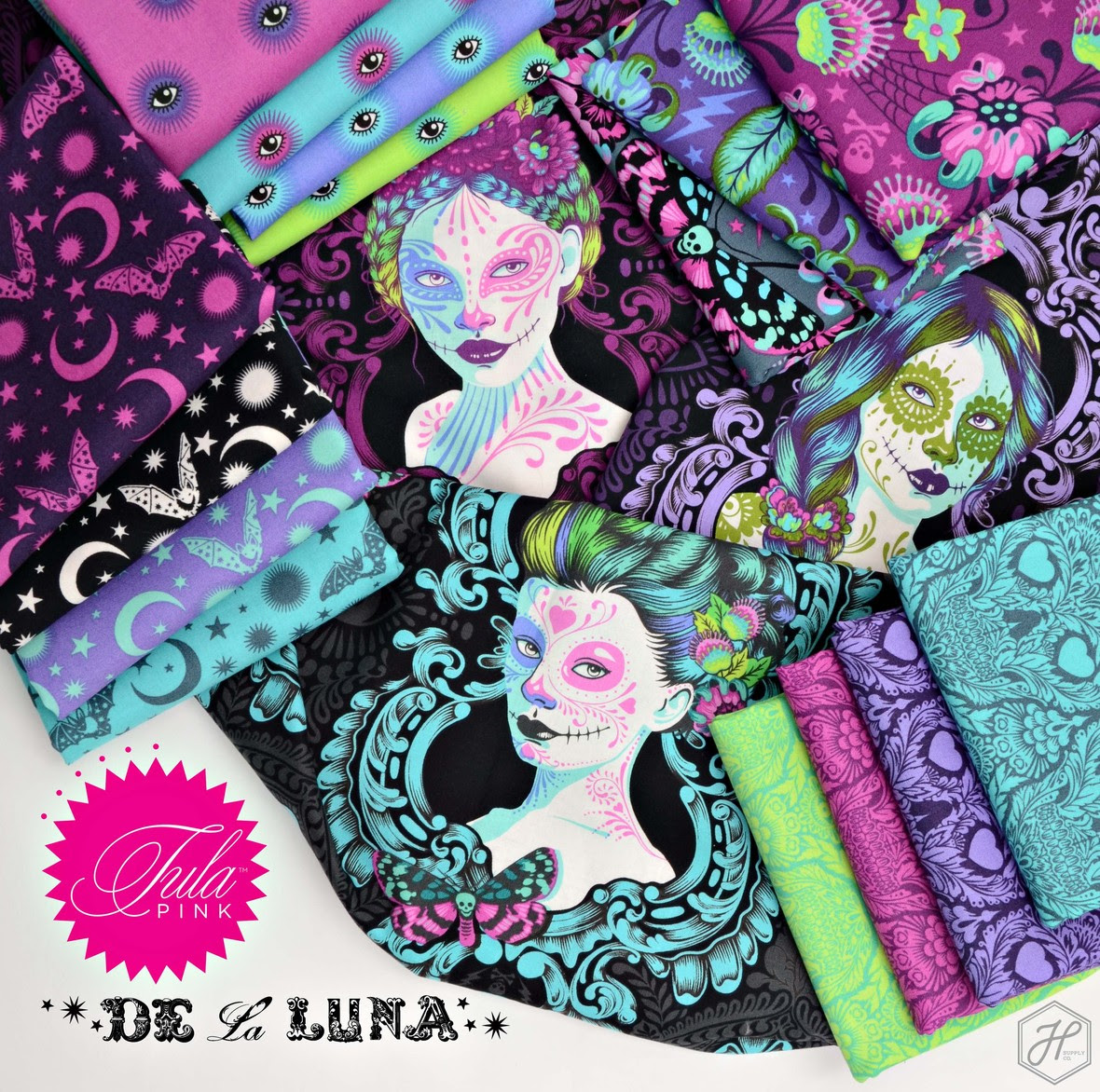 De La Luna Tula Pink fabric at Hawthorne