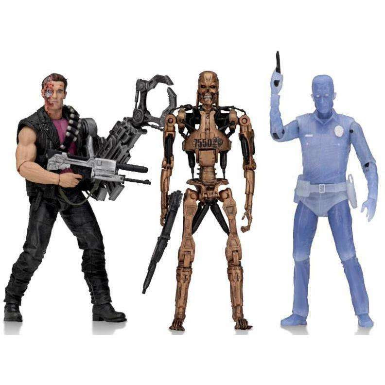 "Image of Terminator 2 - 7"" Scale Action Figure - Kenner Tribute Set of 3"