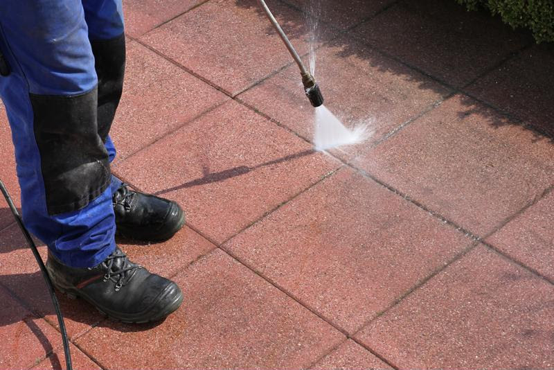 High-pressure hoses can remove grim and other unsightly stains.