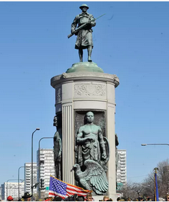 Victory Monument, at 35th & King Drive in Chicago