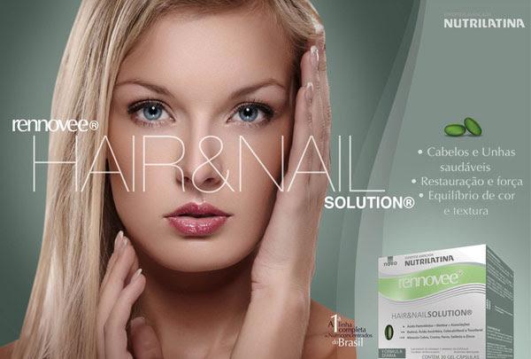 Rennovee Hair&Nail Solution - Cabelos e Unhas saudáveis; Restauração e força; Equilíbrio de cor e textura.
