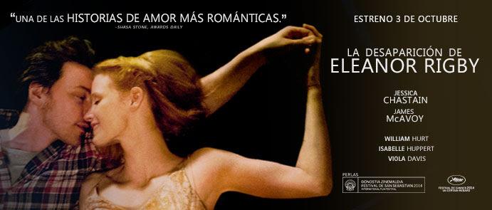 Jessica Chastain presentará en el Festival de San Sebastián LA DESAPARICIÓN DE ELEANOR RIGBY que estrenaremos el 3 de Octubre en cines